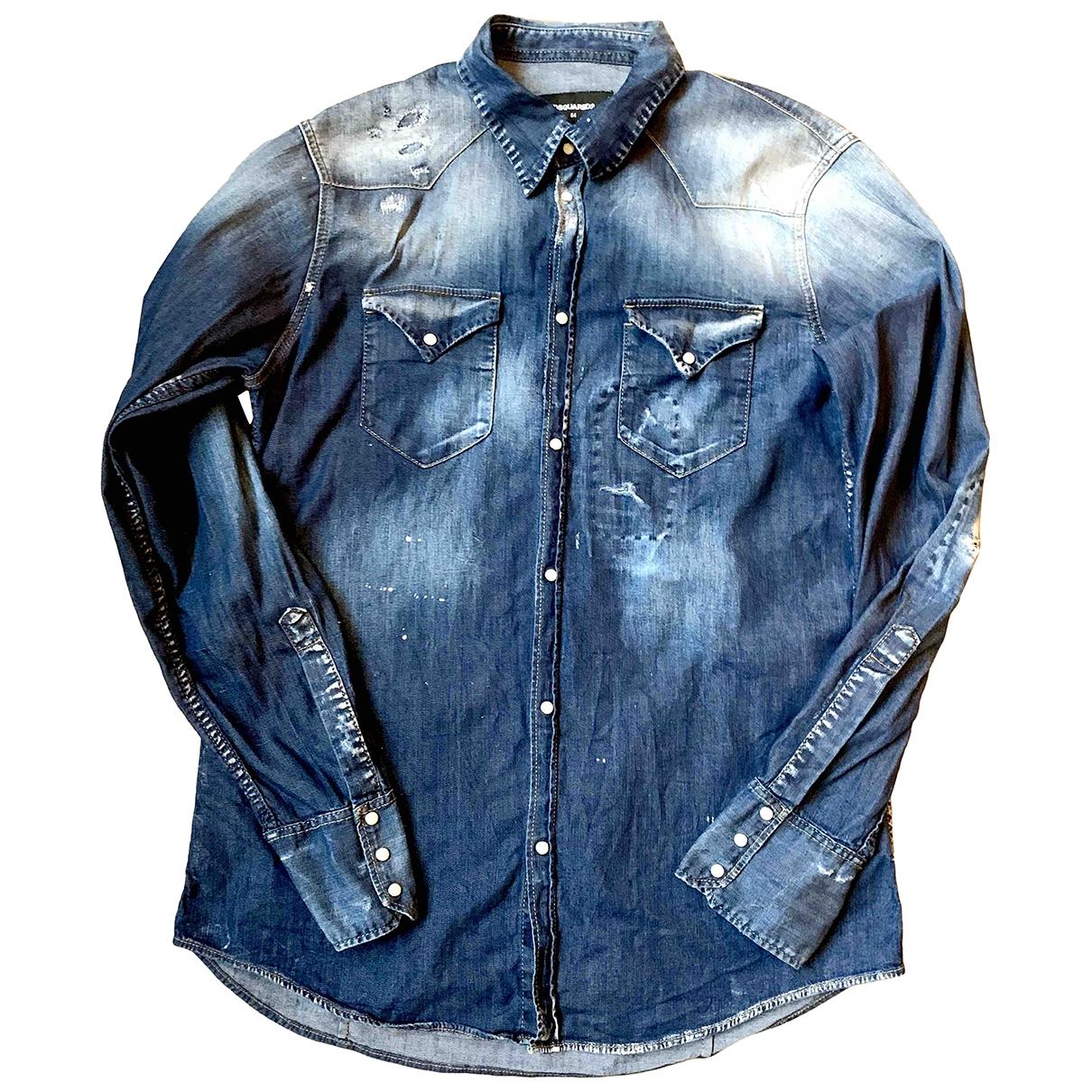 Dsquared2 - Chemises   pour homme en denim - bleu