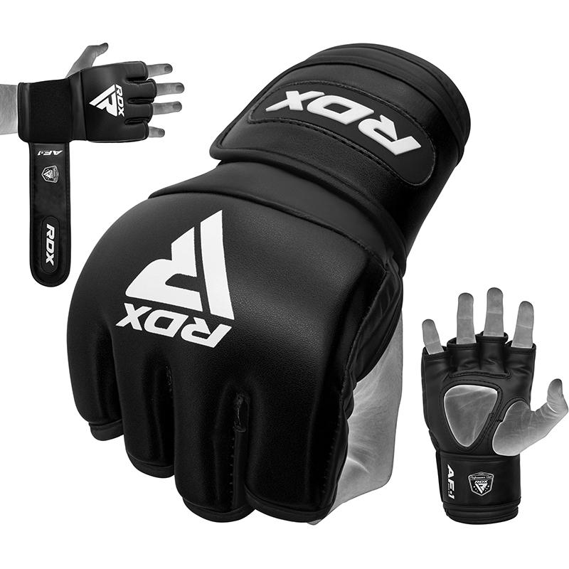 RDX RF1 4oz Gants de Grappling et MMA XL Noir Cuir PU