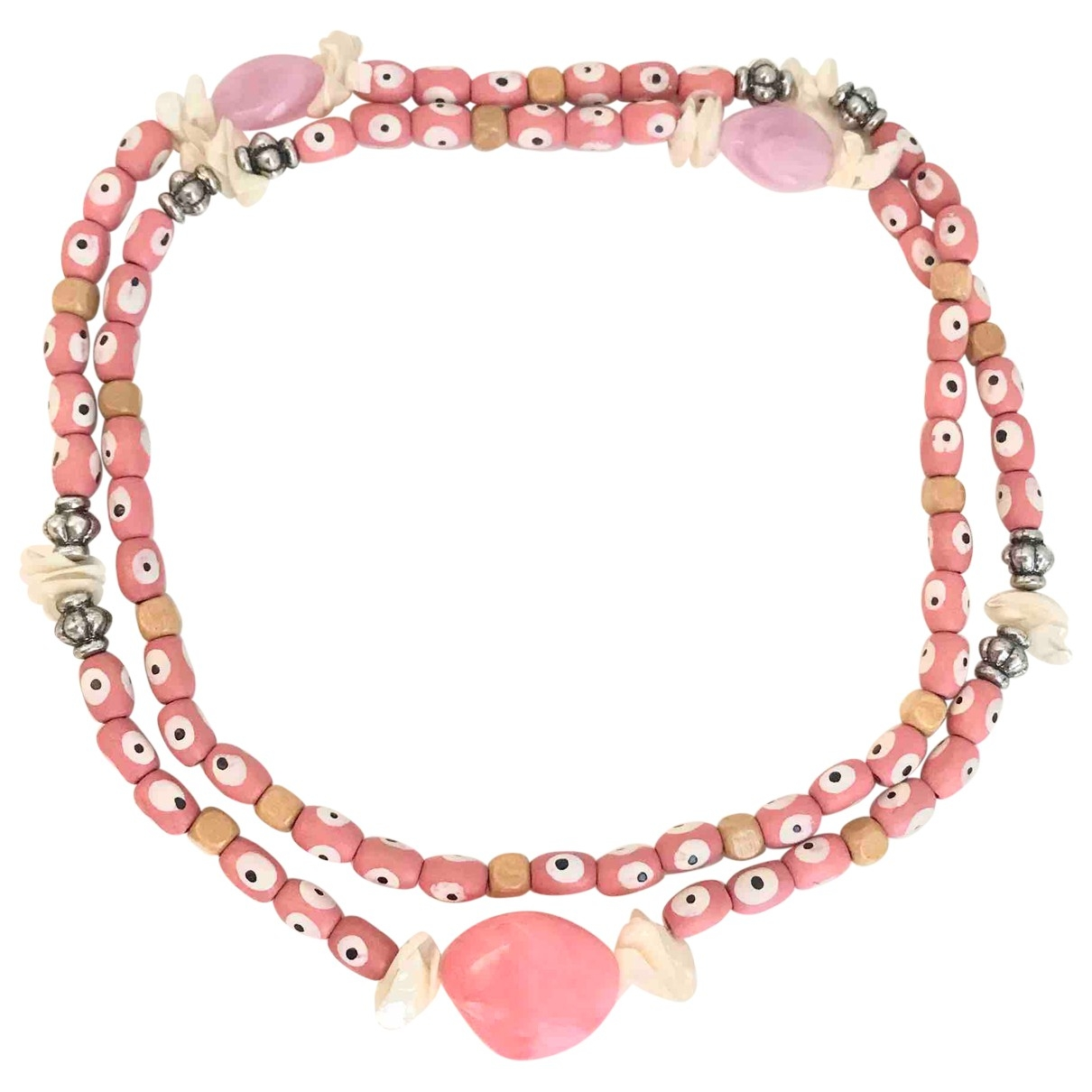 - Collier Motifs Ethniques pour femme en bois - rose