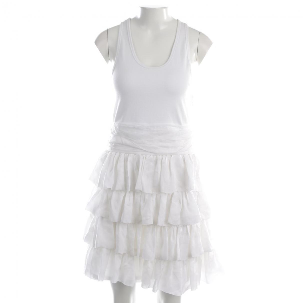 Manoush \N Kleid in  Weiss Seide
