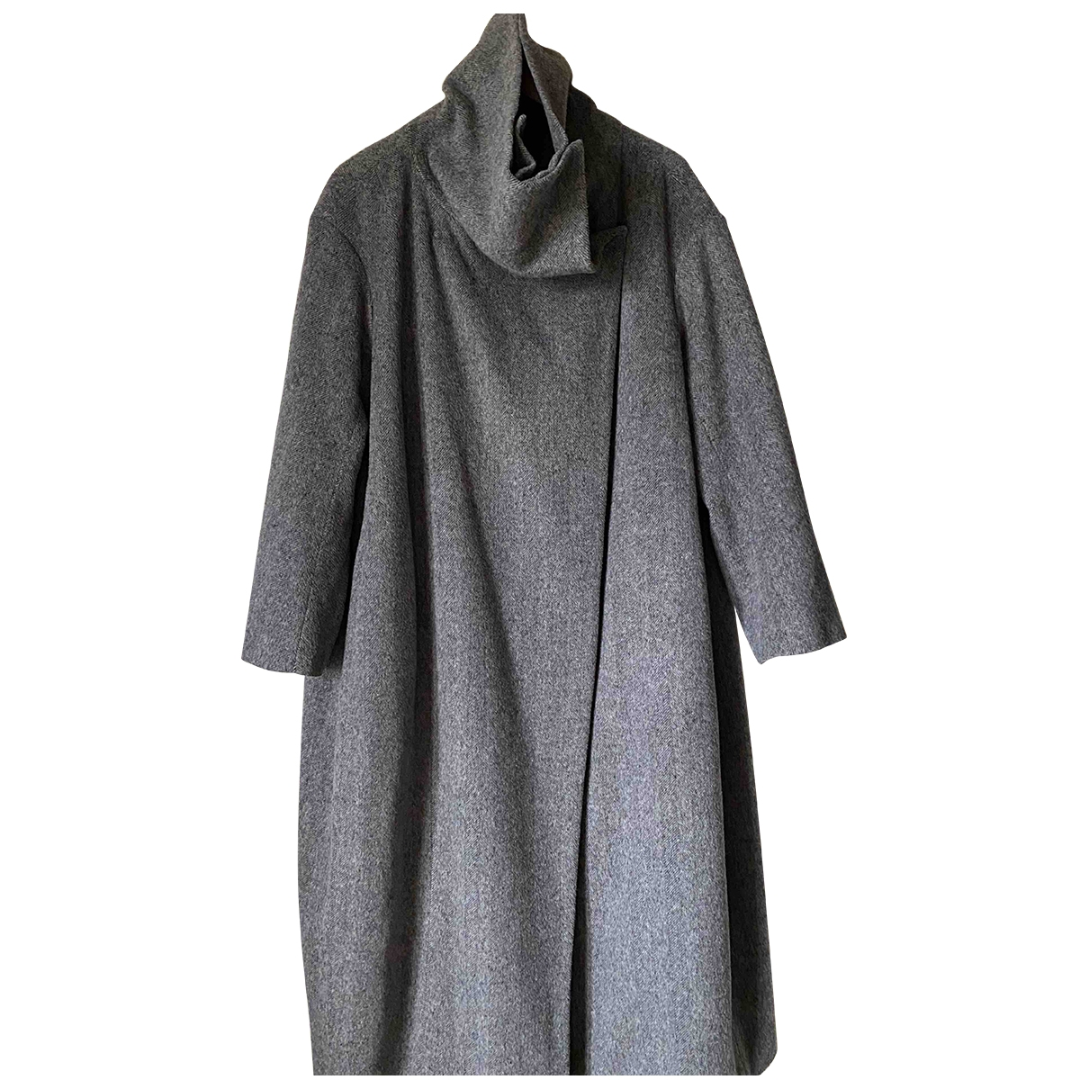 Non Signé / Unsigned \N Grey Wool coat for Women M International