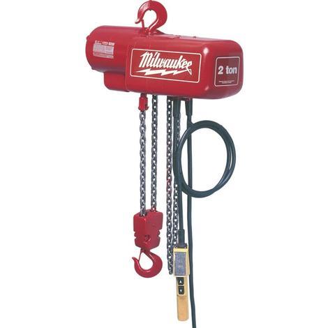Milwaukee 2 Ton Electric Hoist 10 Ft.