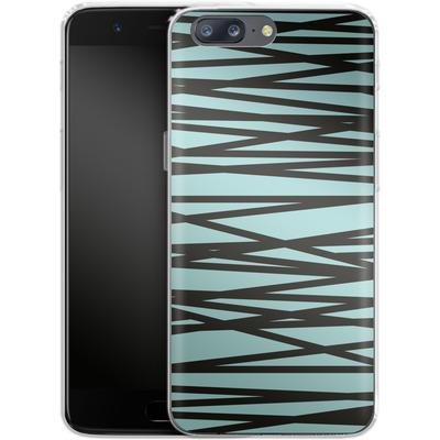 OnePlus 5 Silikon Handyhuelle - Rendezvous Stripe von Khristian Howell
