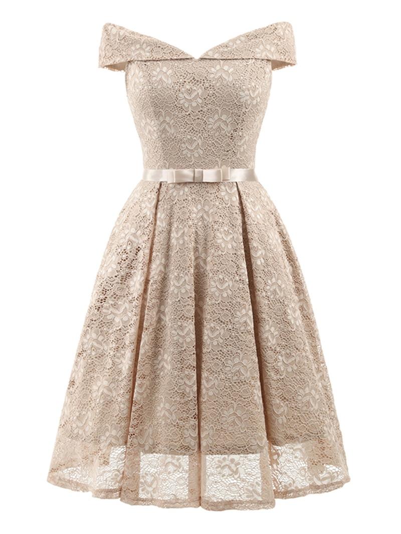 Ericdress Knee-Length Lace Pullover Women's A-Line Dress