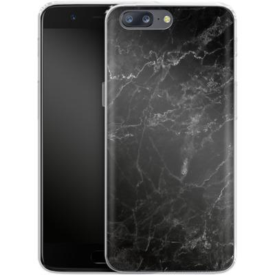 OnePlus 5 Silikon Handyhuelle - Midnight Marble von caseable Designs