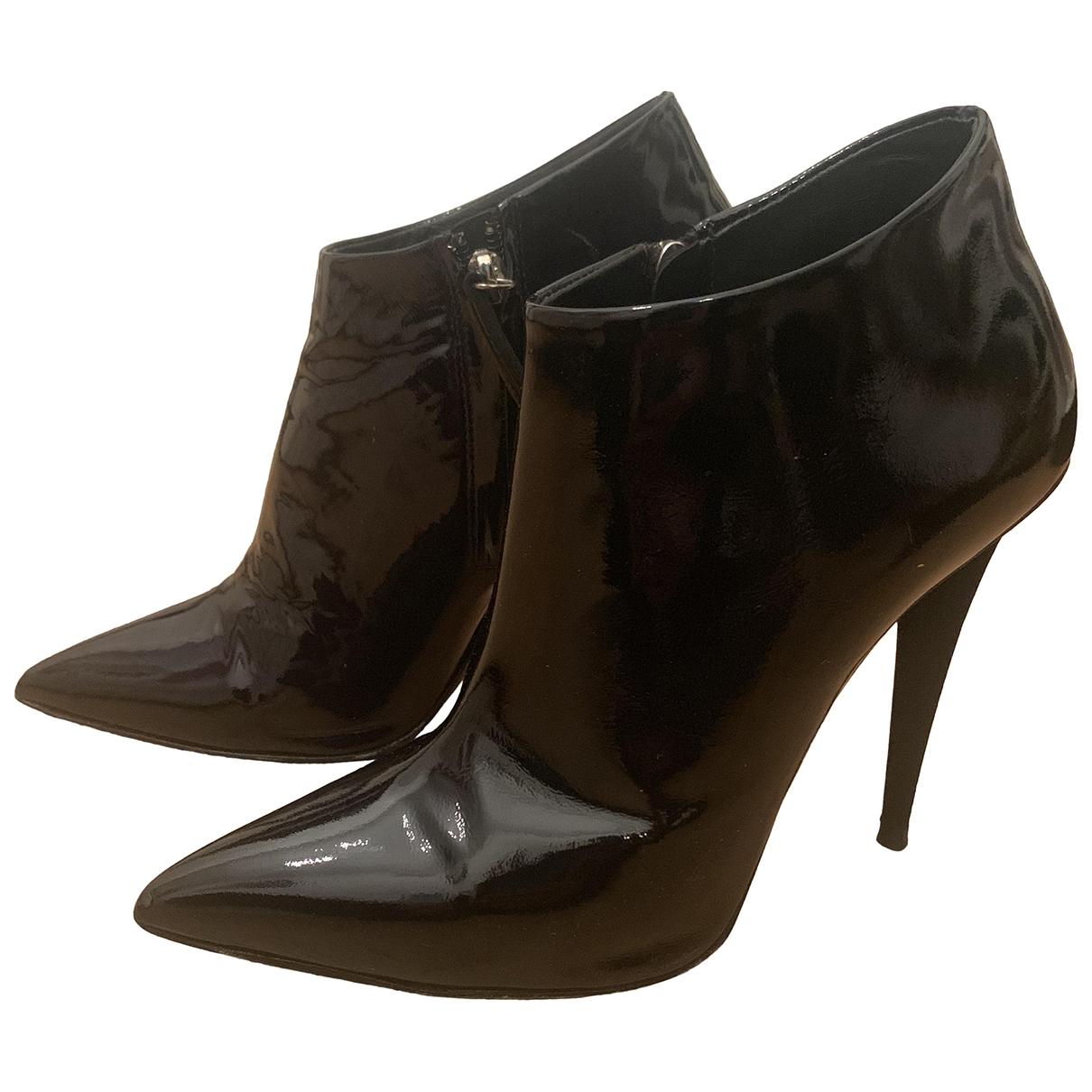 Giuseppe Zanotti - Boots   pour femme en cuir verni - noir