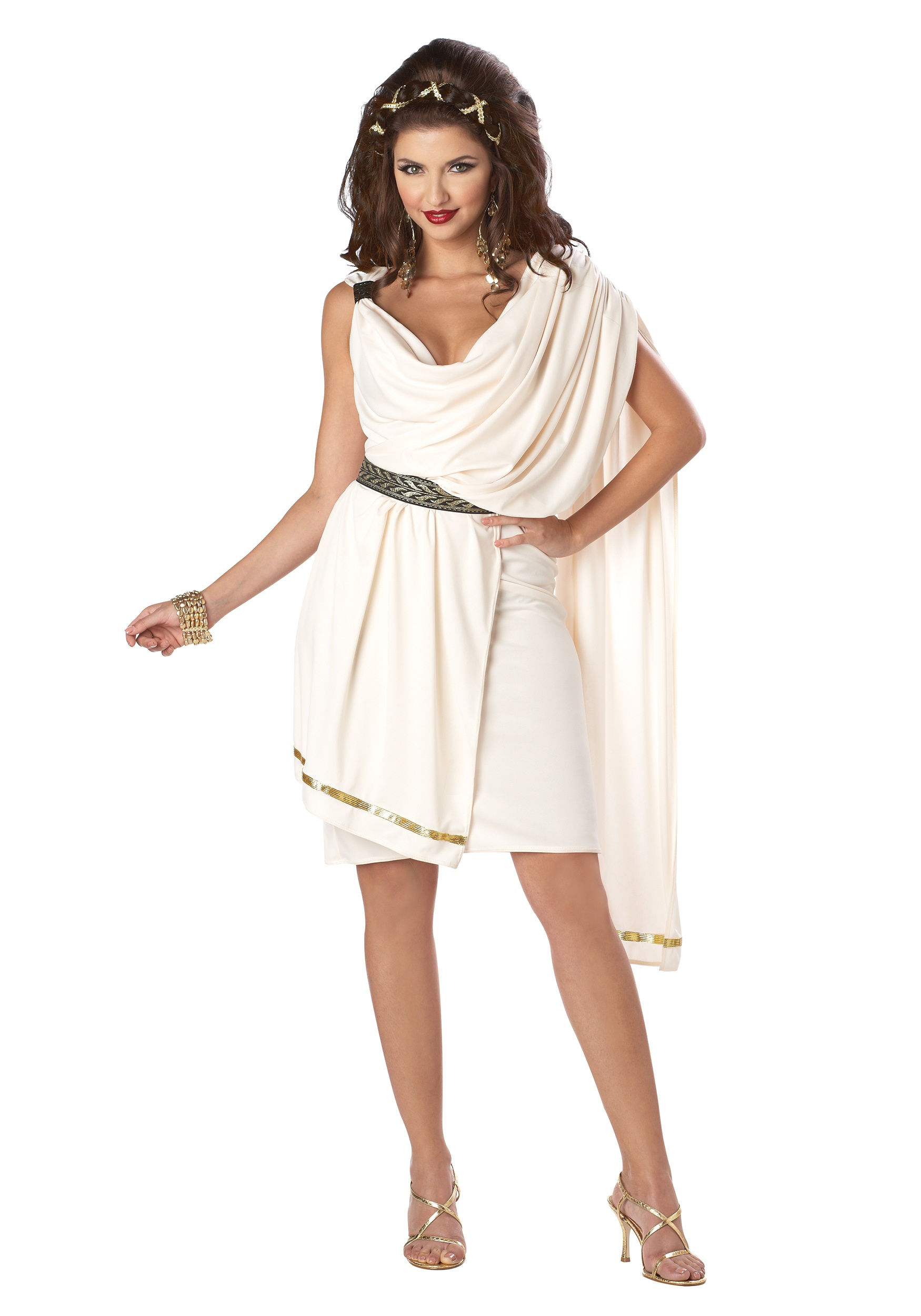 Deluxe Classic Women's Toga Costume | Greek Goddess Costume