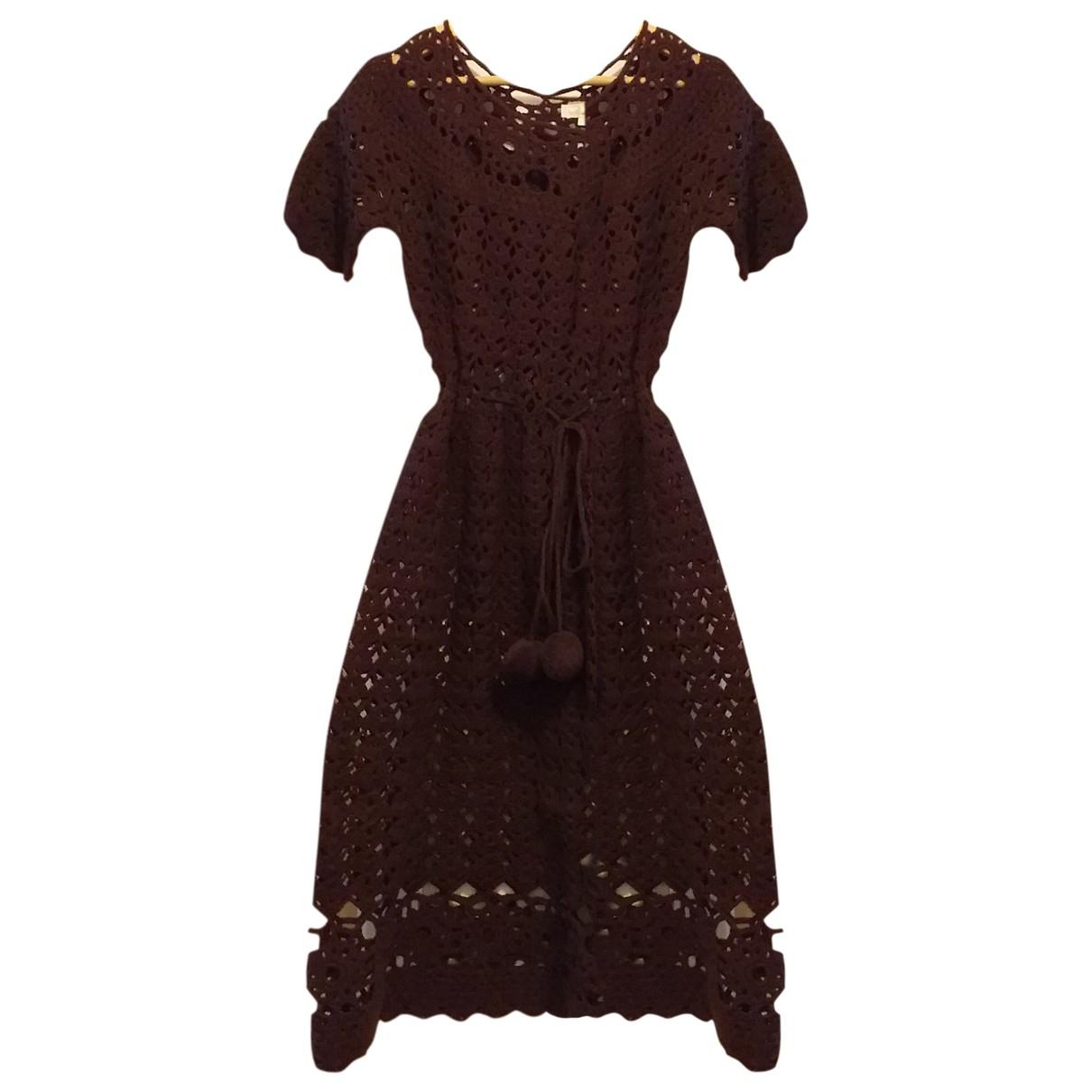 American Retro - Robe   pour femme en laine - marron