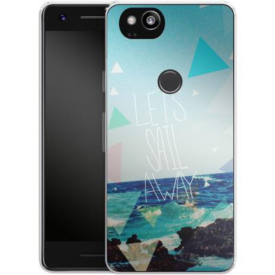 Google Pixel 2 Silikon Handyhuelle - Lets Sail Away von Leah Flores