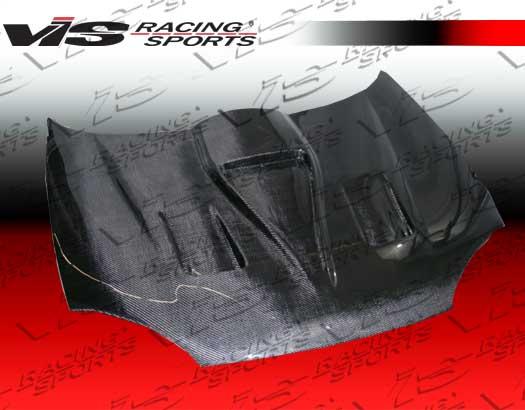 VIS Racing 90MZMX32DGF-010C G Force Style Black Carbon Fiber Hood Mazda MX-3 90-95