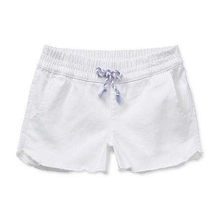 Arizona Little & Big Girls Pull-On Shortie Short, 10 , White