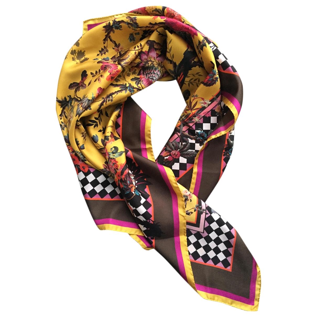 Roberto Cavalli - Foulard   pour femme en soie - multicolore