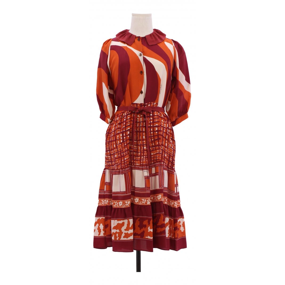 Just Cavalli - Robe   pour femme en soie - multicolore