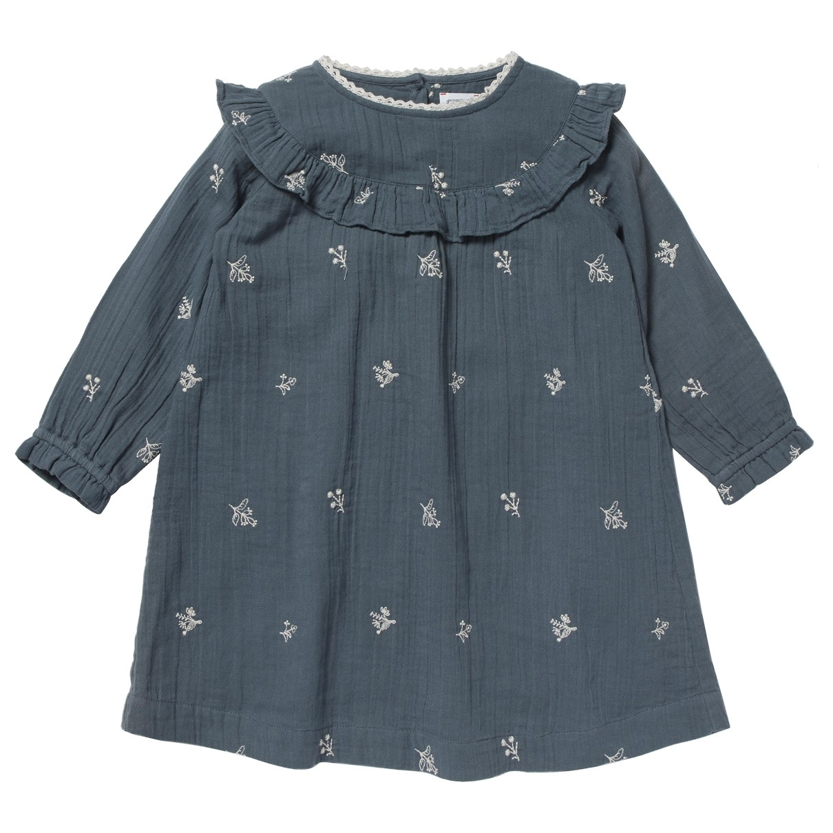 - Robe    pour enfant en coton - anthracite