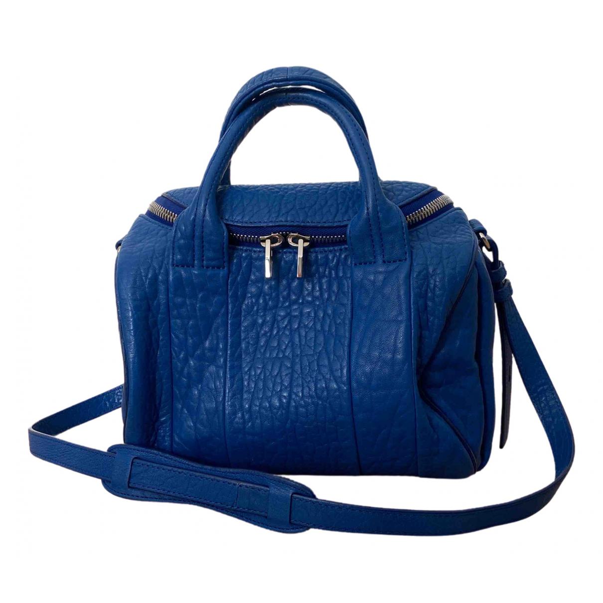 Alexander Wang Rocco Blue Leather handbag for Women \N