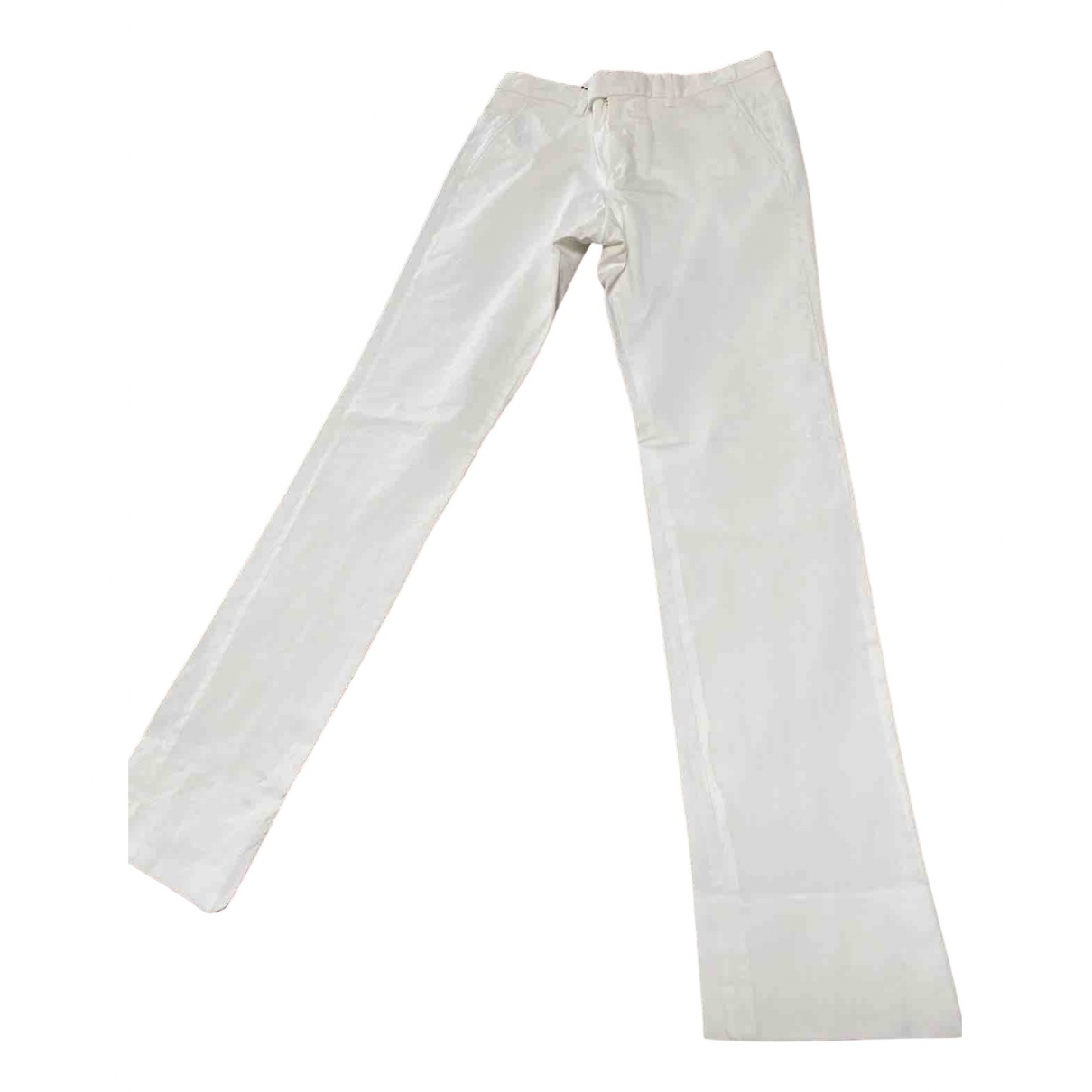 Gucci N White Cotton Trousers for Men 46 IT
