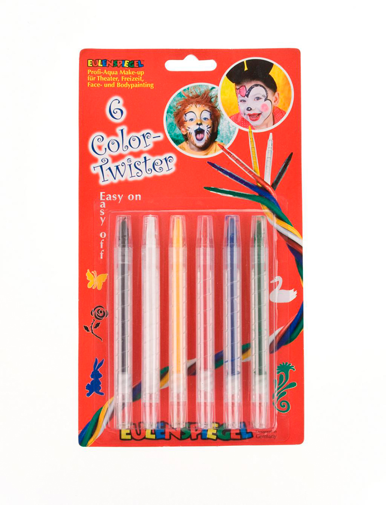 Kostuemzubehor Schminkstifte Color Twister Schminke fuer Karneval & Fasching Farbe: multicolor bzw. bunt