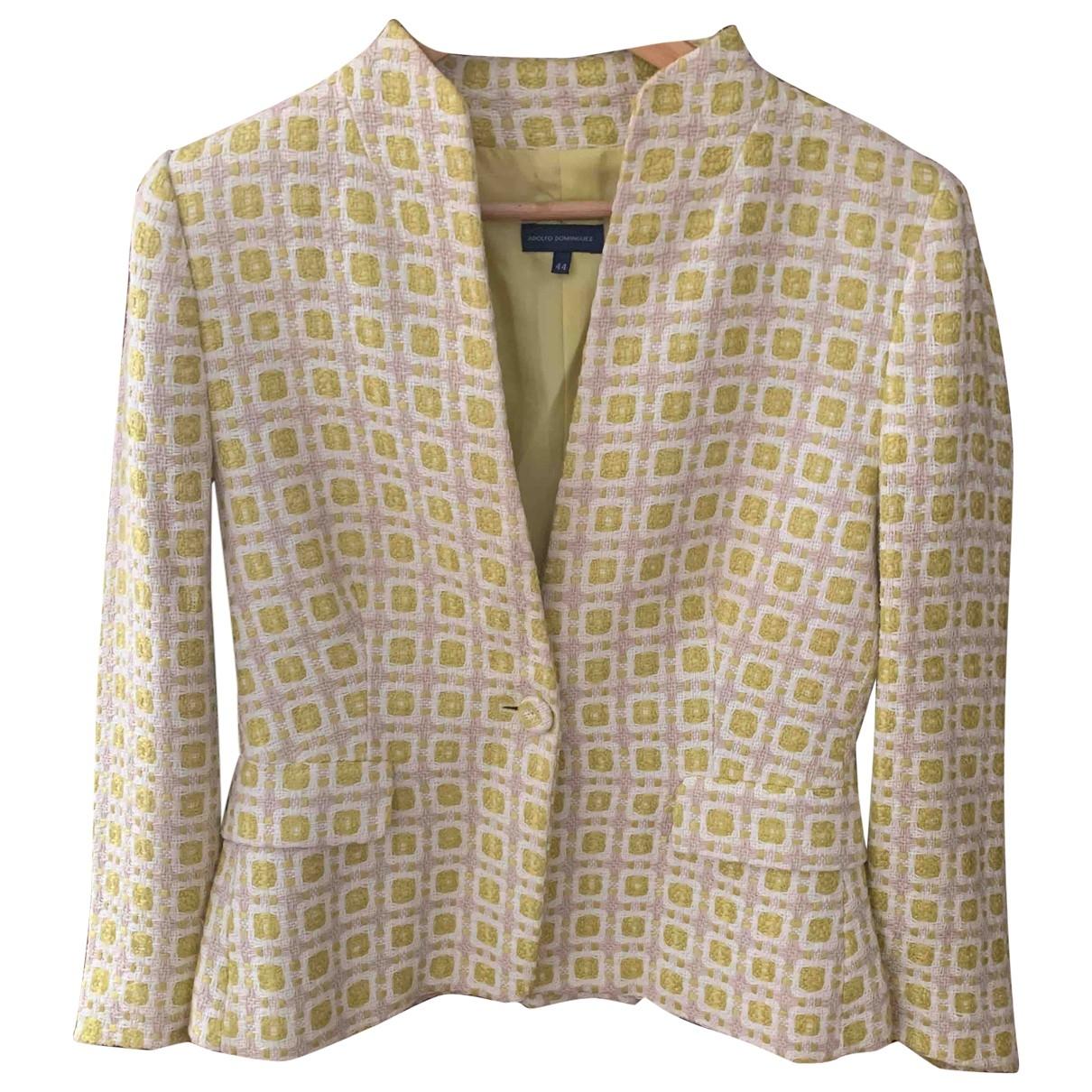 Adolfo Dominguez \N Yellow Cotton jacket for Women 44 FR