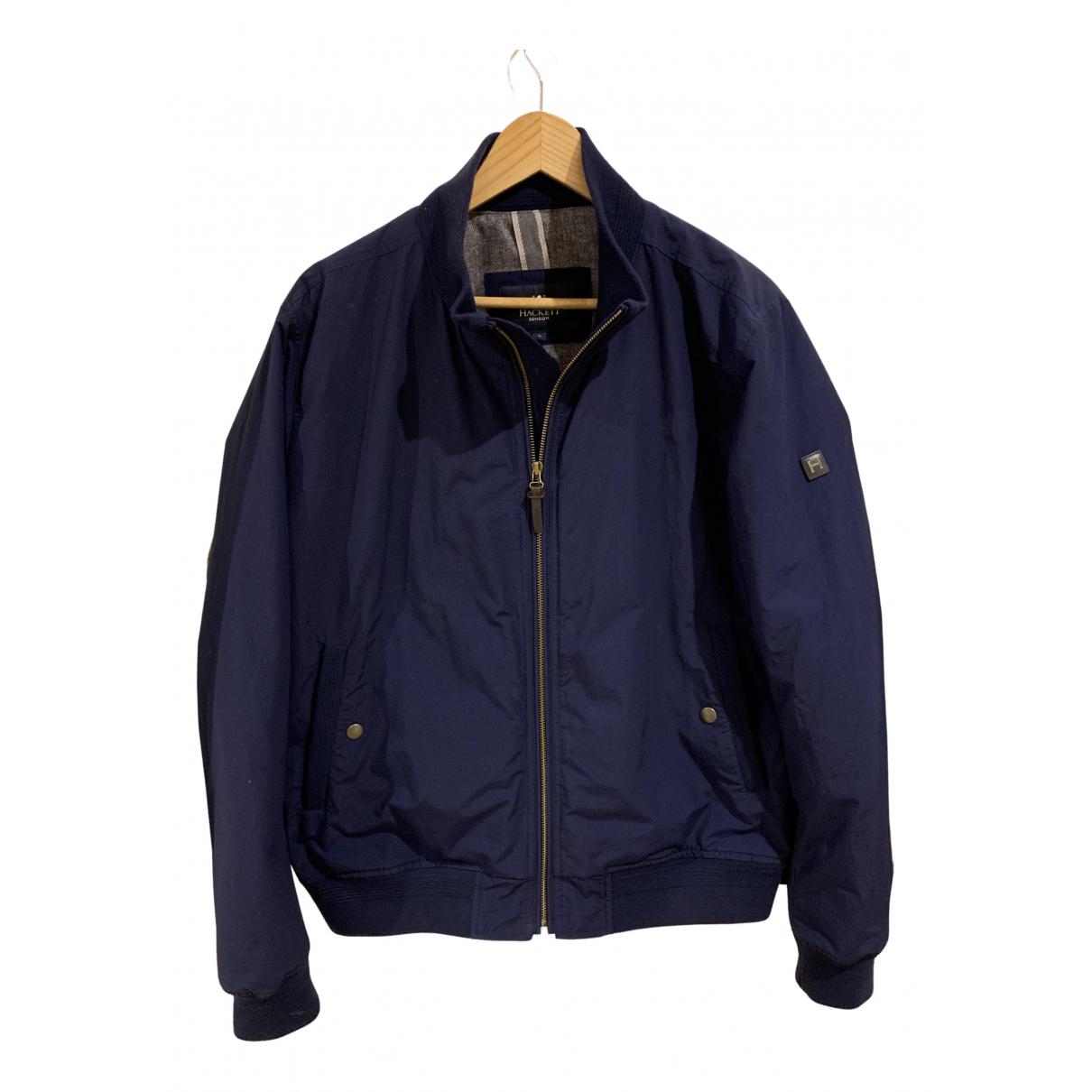 Hackett London - Manteau   pour homme en coton - bleu