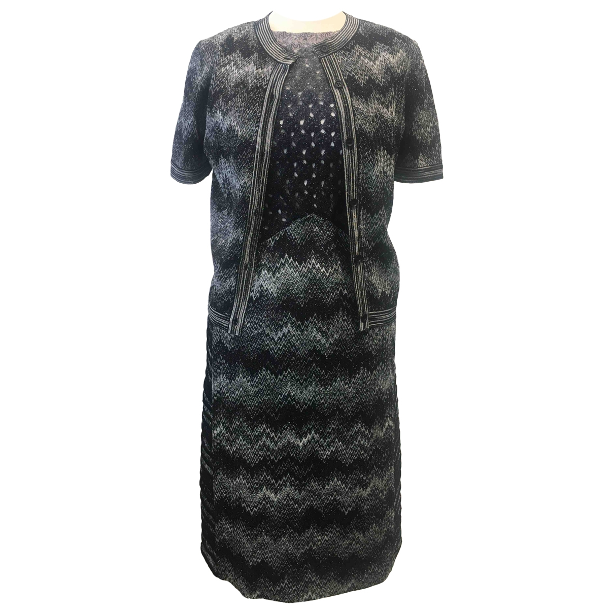 Missoni \N Kleid in  Grau Synthetik