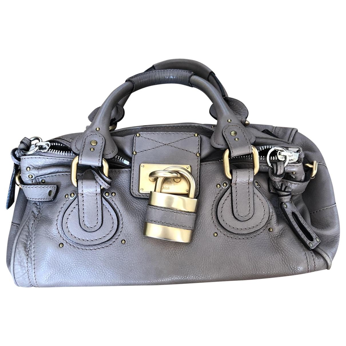 Chloe Paddington Handtasche in  Grau Leder