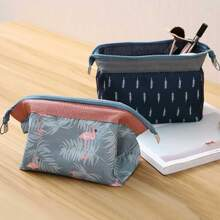 1pc Plant Print Zip Storage Bag