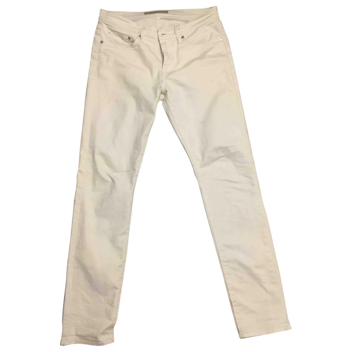 Burberry - Jean   pour homme en coton - blanc