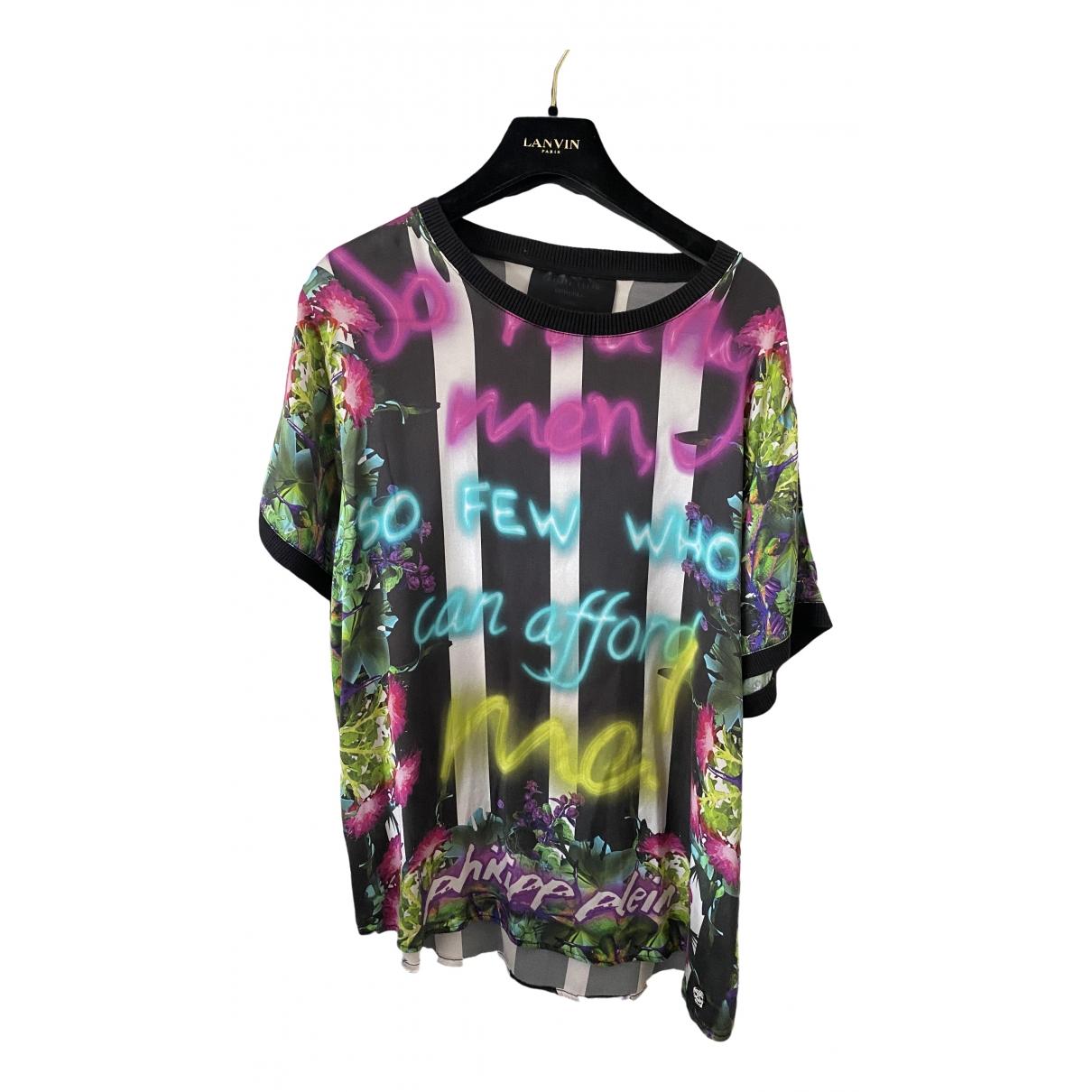 Philipp Plein - Top   pour femme en soie - multicolore