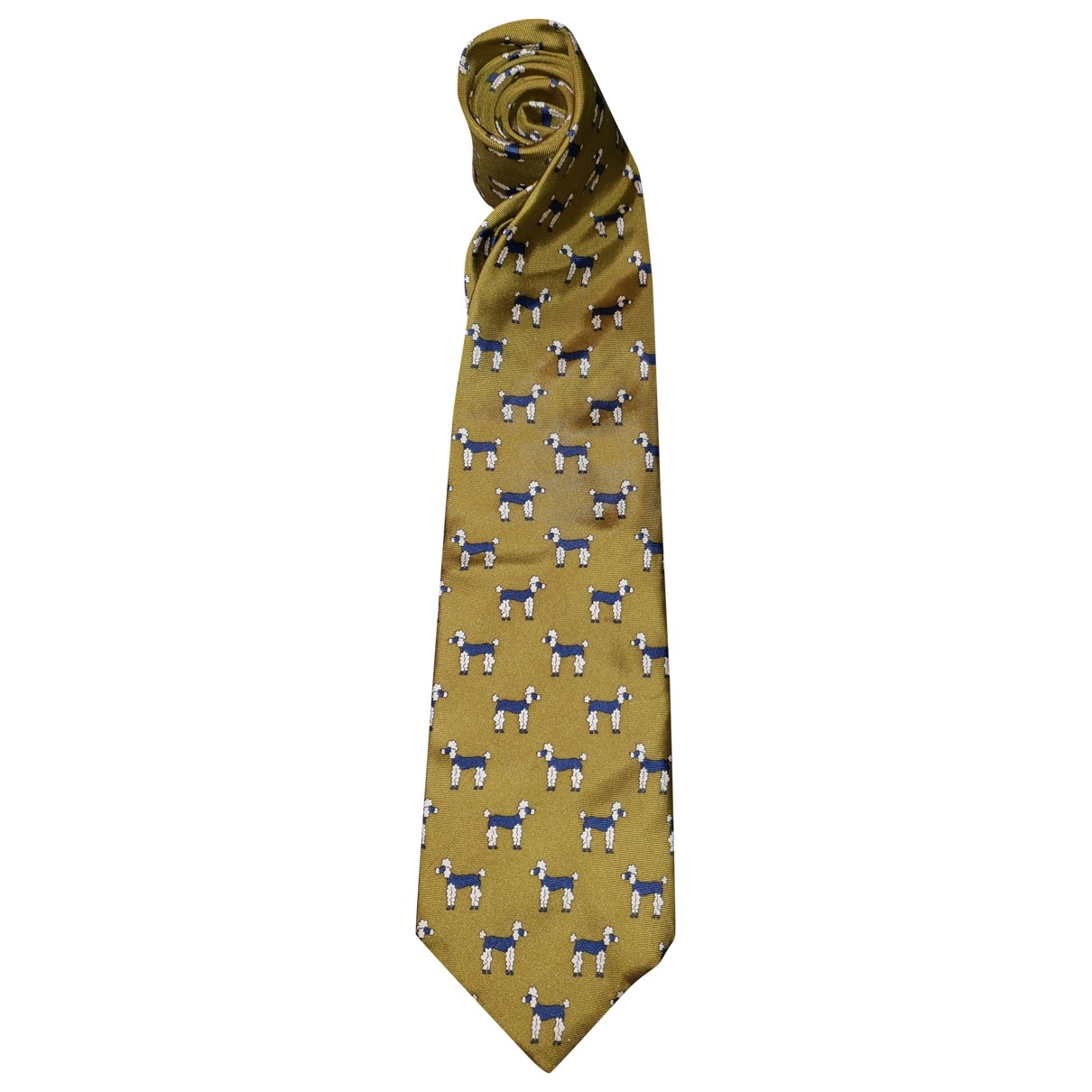 Rykiel Homme \N Khaki Silk Ties for Men \N