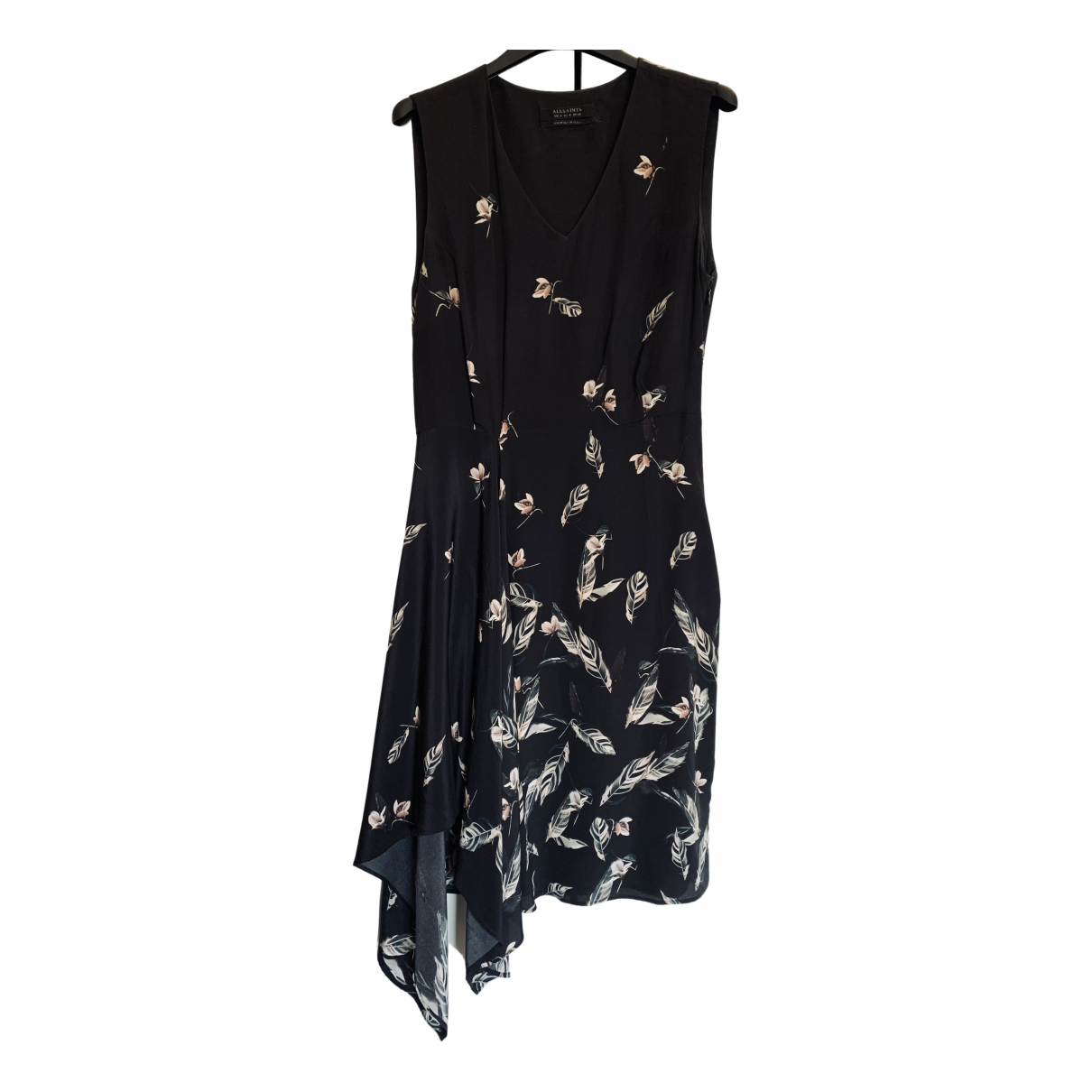 All Saints N Black Silk dress for Women 8 UK