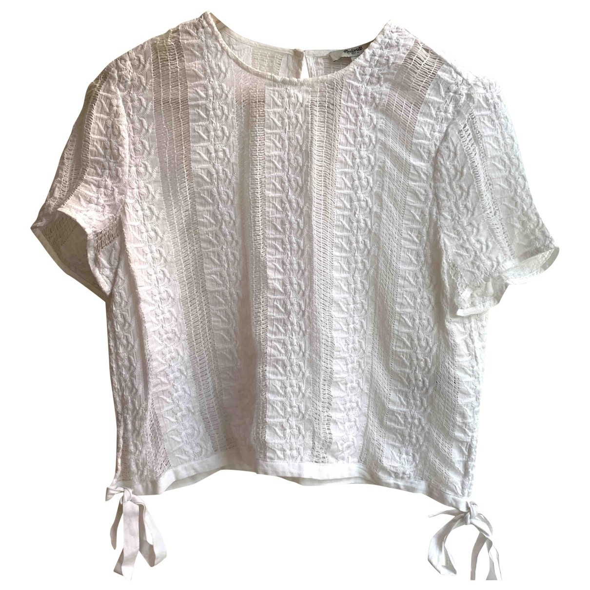 Madewell \N White Cotton  top for Women M International