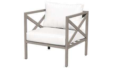 TKC065b-CC-WHITE Carlisle Club Chair - Beige and Sail White