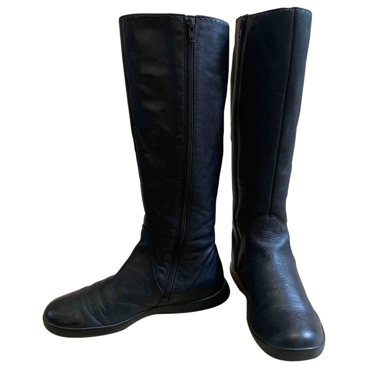 Camper \N Black Leather Boots for Women 37 EU