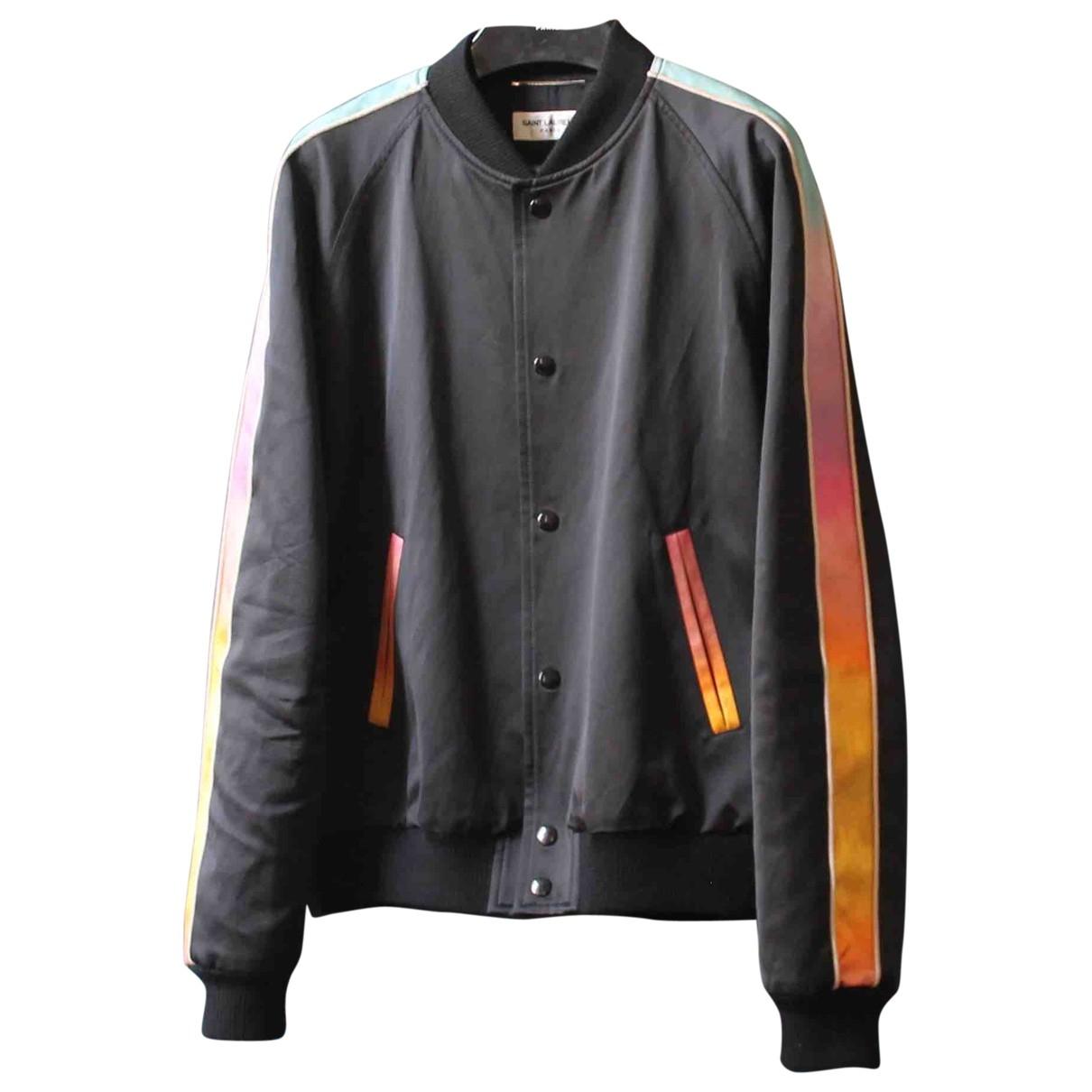 Saint Laurent \N Black Cotton jacket  for Men 48 FR
