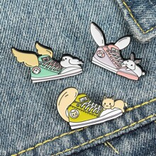 3pcs Cartoon Shoe Design Brooch