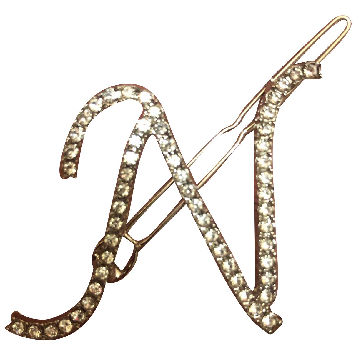Non Signe / Unsigned Motifs Lettres Haarschmuck in  Silber Metall