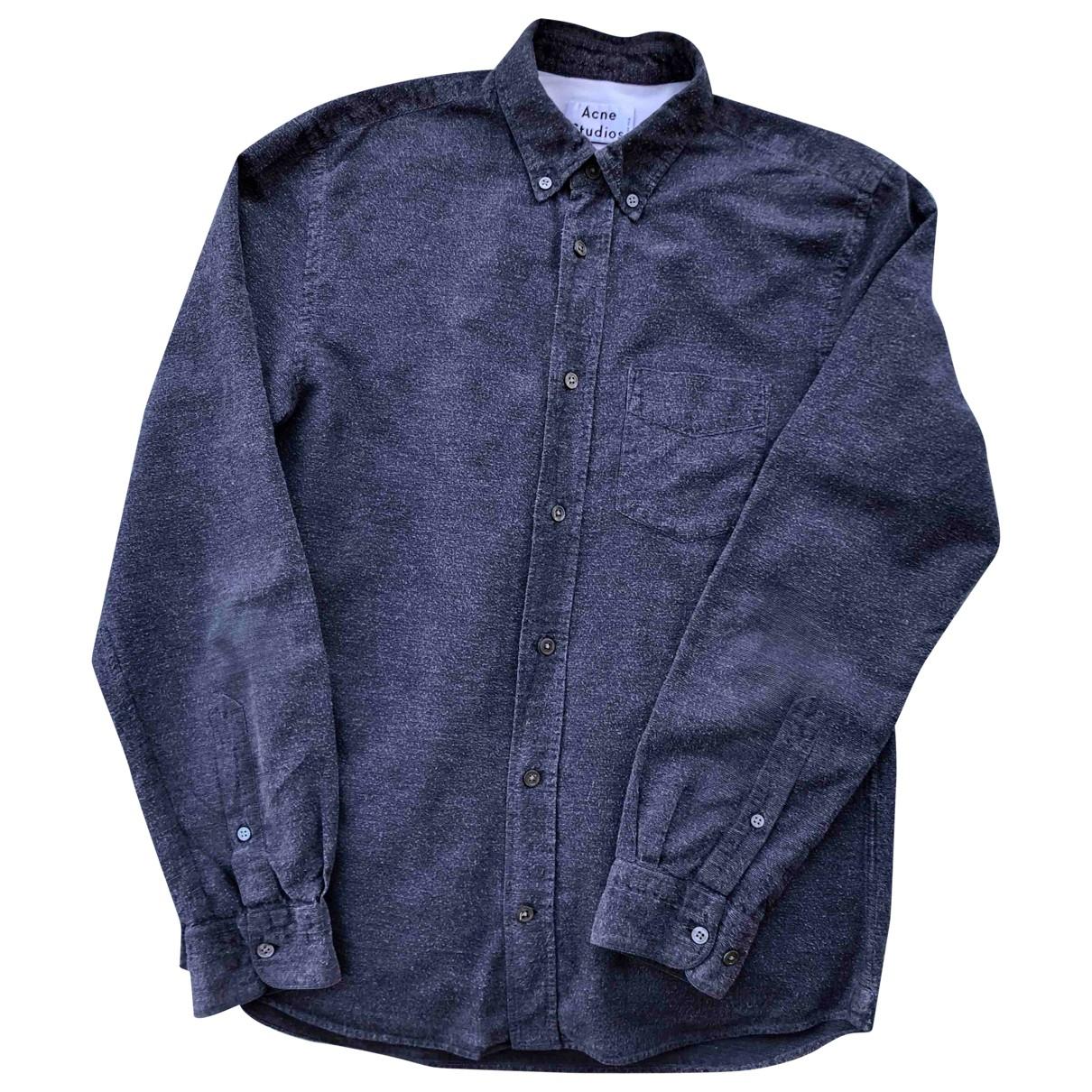 Acne Studios \N Grey Cotton Shirts for Men S International