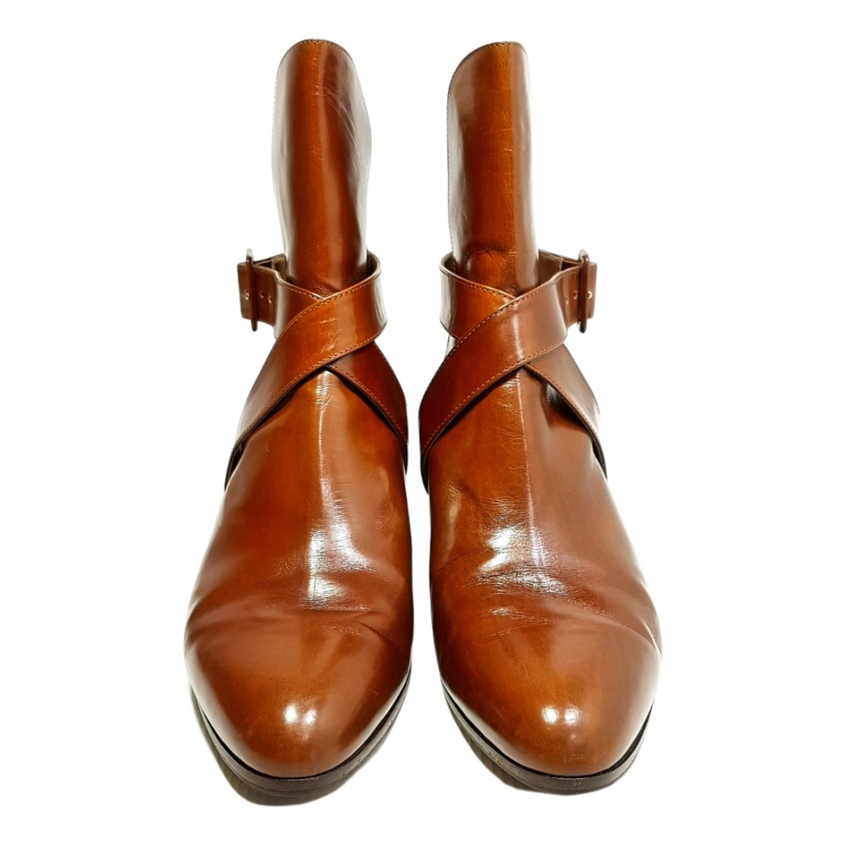 Salvatore Ferragamo \N Camel Leather Ankle boots for Women 7.5 US