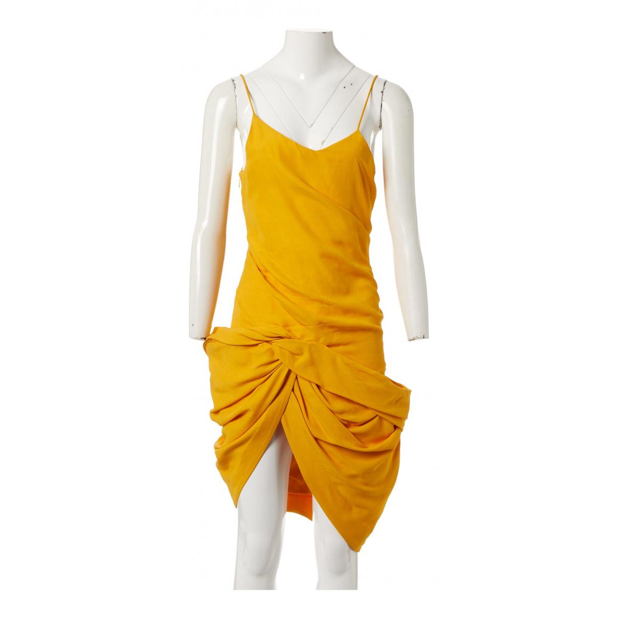 Jacquemus La Bomba Kleid in  Gelb Baumwolle