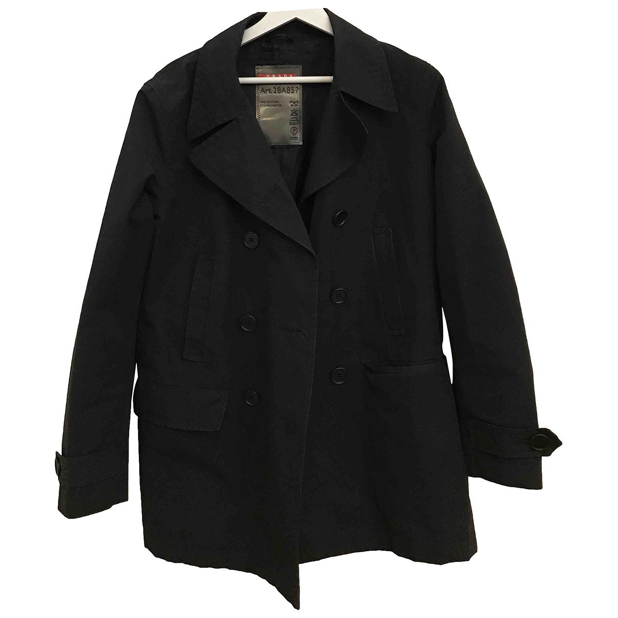 Prada - Trench   pour femme en laine - noir