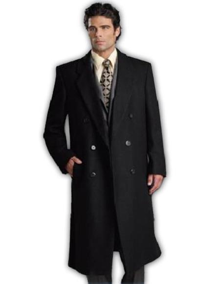 Alberto Nardoni  ~ Overcoat ~ Wool t Duster Style Black