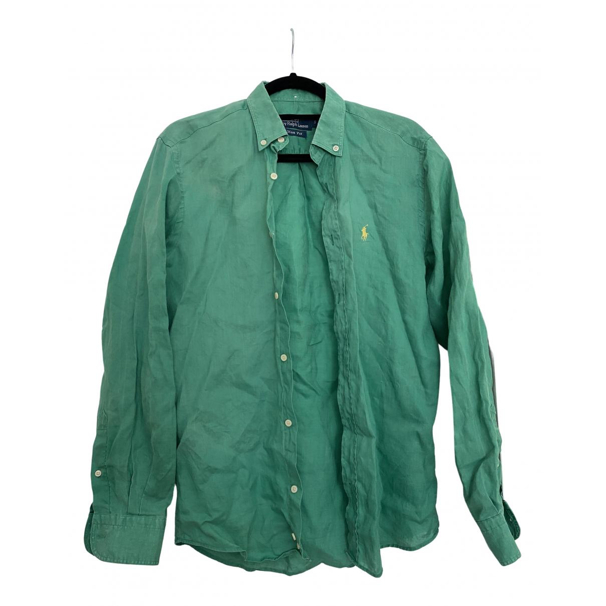 Polo Ralph Lauren \N Green Linen Shirts for Men S International