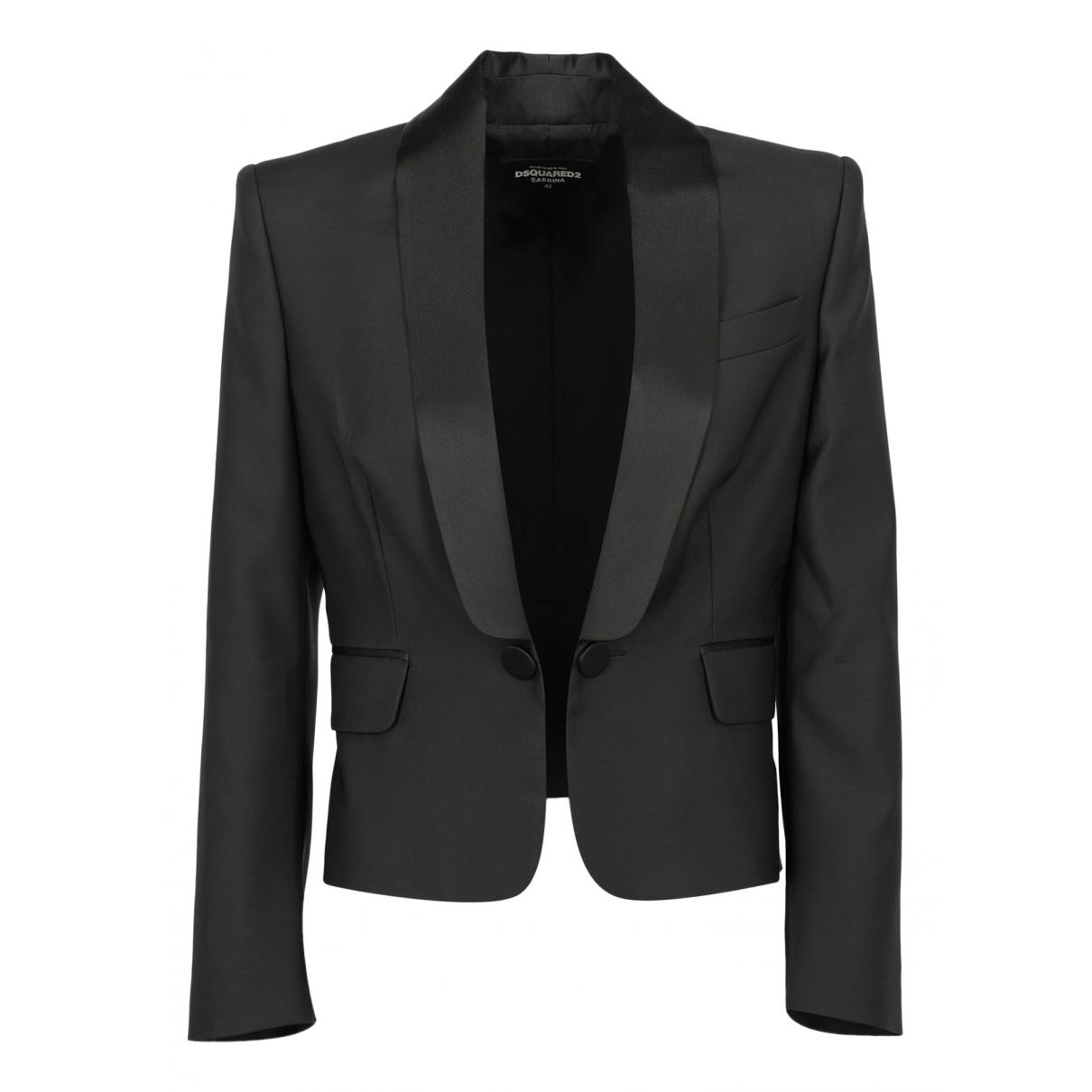 Dsquared2 - Veste   pour femme en laine - noir