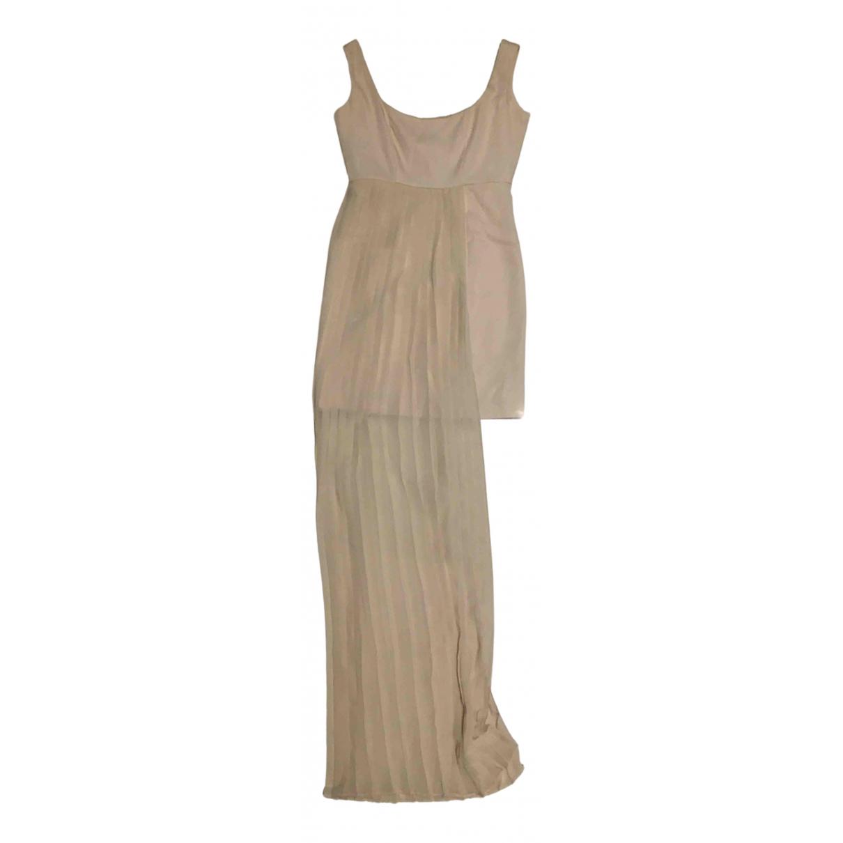 Mangano \N Kleid in  Beige Polyester