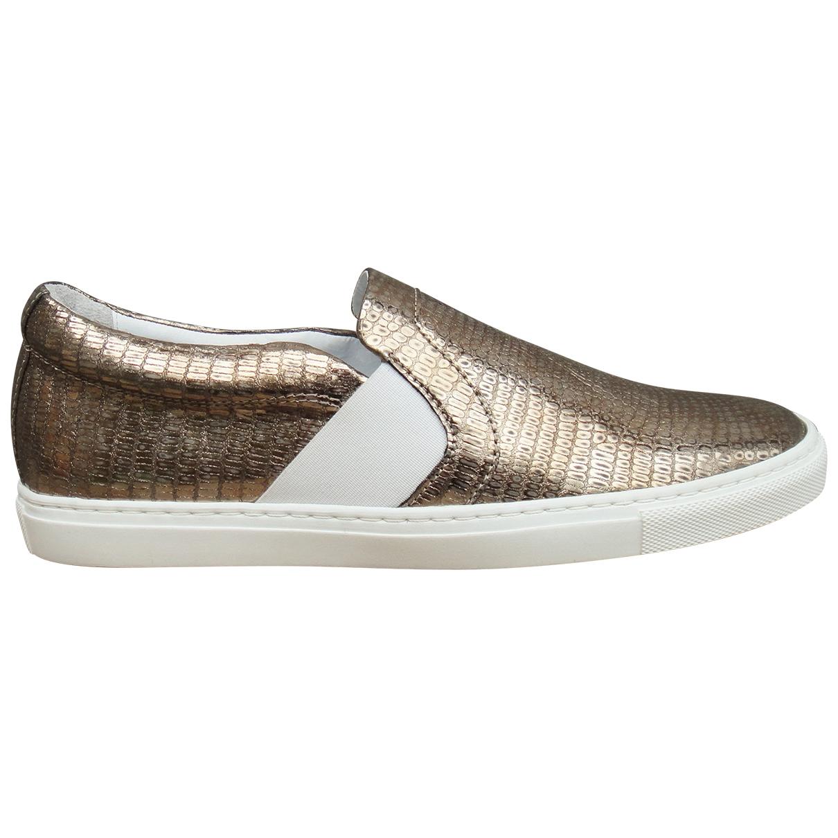 Lanvin \N Sneakers in  Gold Leder
