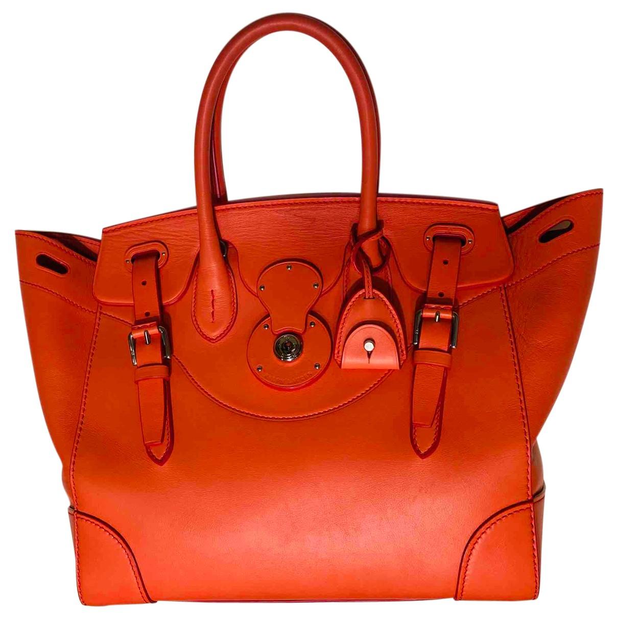 Ralph Lauren \N Handtasche in  Rosa Leder