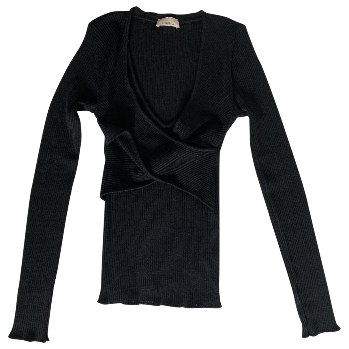 Pinko \N Pullover in  Schwarz Wolle