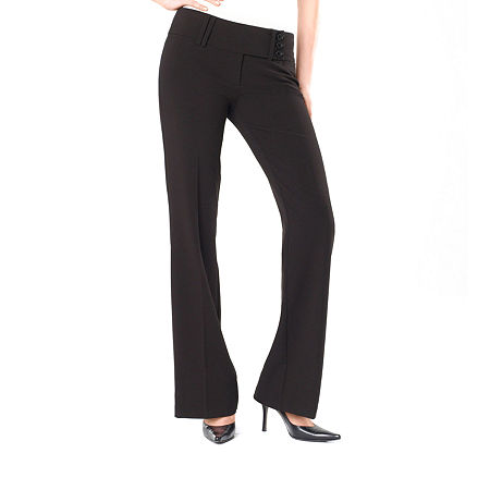 Star City 3-Button Extended-Tab Trouser Pants, 11 , Black