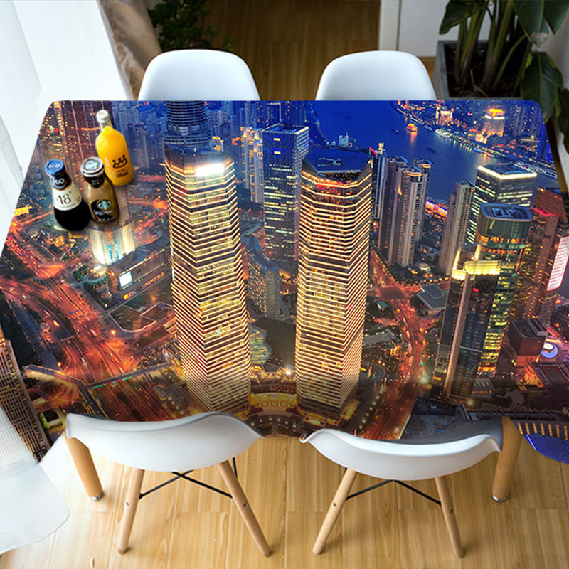 Waterproof Christmas Decoration Rectangle Waterproof 3D Tablecloth