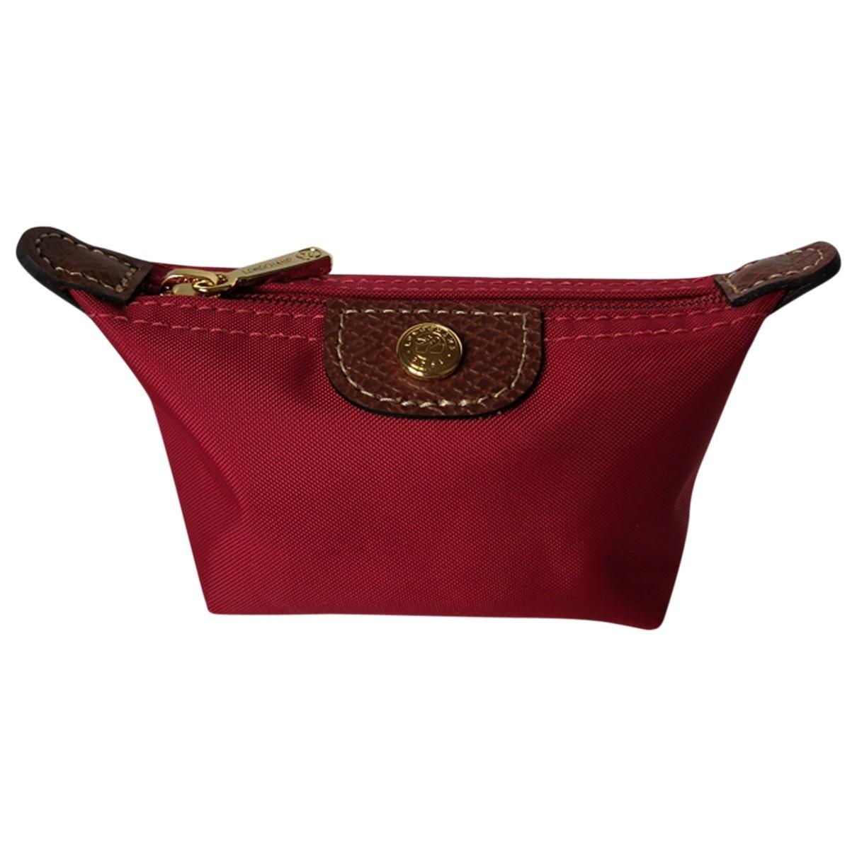 Longchamp - Portefeuille   pour femme en toile - rouge